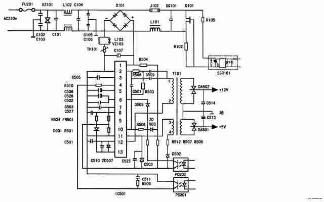 先熟悉一下电源电路图(如下图)